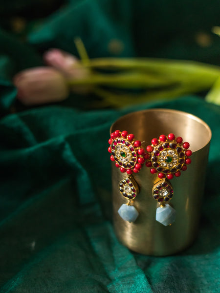 Mehnaz Earrings [silver jewellery] [temple jewellery] - Aaharya