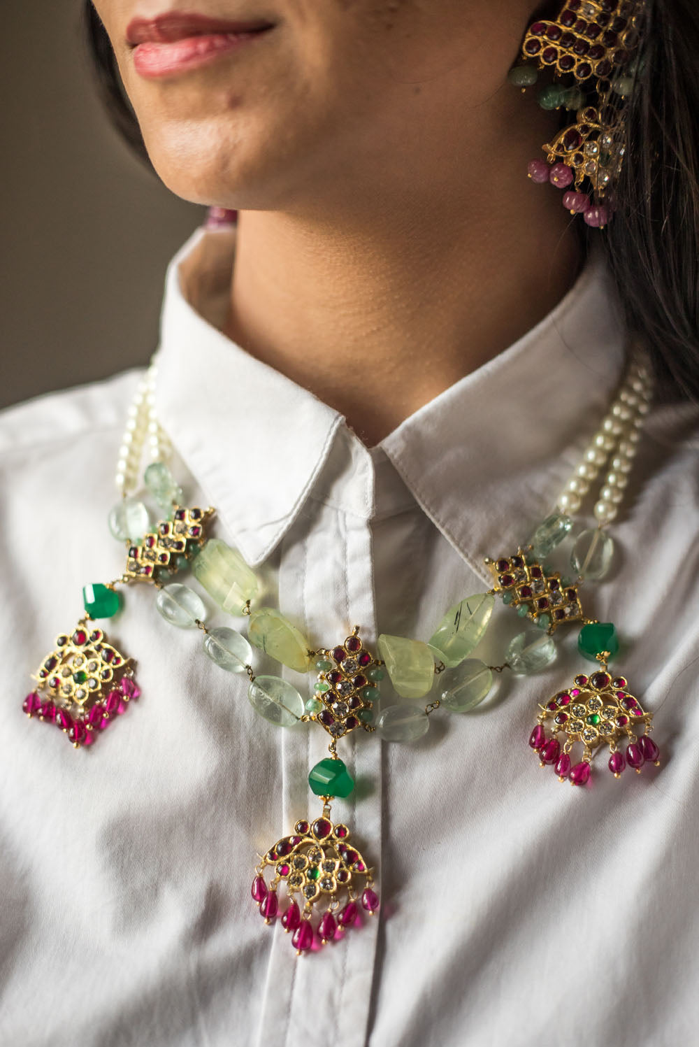 Runi Necklace [silver jewellery] [temple jewellery] - Aaharya