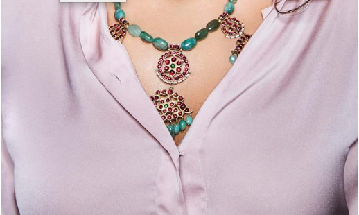Emerald Collar 1 | Temple Jewellery