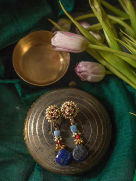 Ushra Earrings [silver jewellery] [temple jewellery] - Aaharya