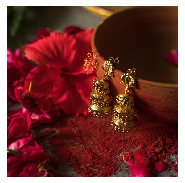 Kaumudi Earrings [silver jewellery] [temple jewellery] - Aaharya