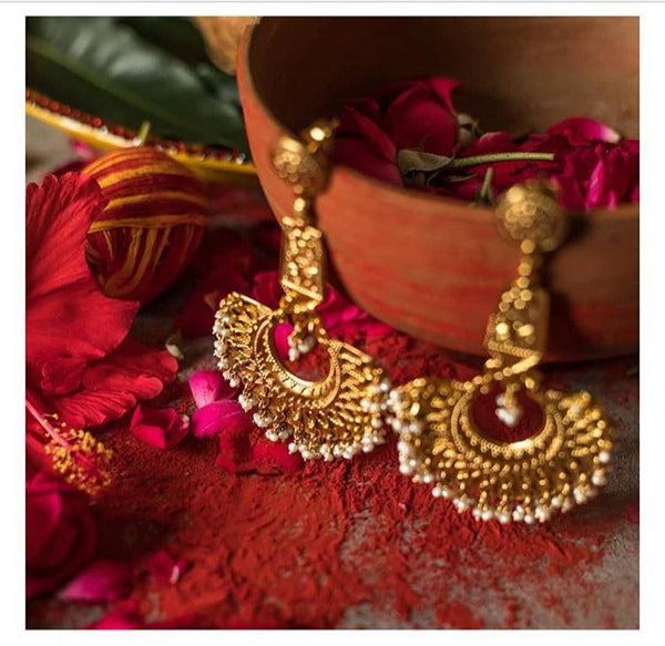 Diwvya Earrings [silver jewellery] [temple jewellery] - Aaharya