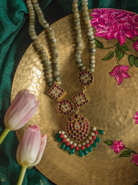 Zaahira Necklace [silver jewellery] [temple jewellery] - Aaharya