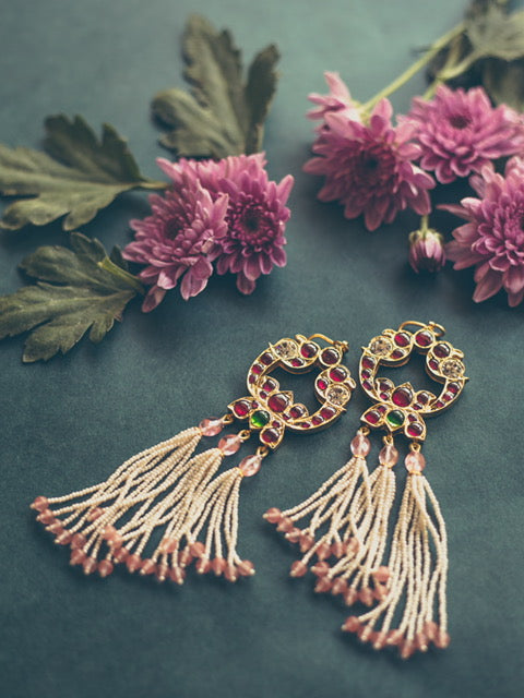 Adah Tassel Earrings [silver jewellery] [temple jewellery] - Aaharya