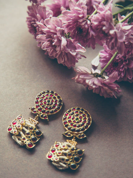 Ahilya Earrings 1 | Temple Jewellery
