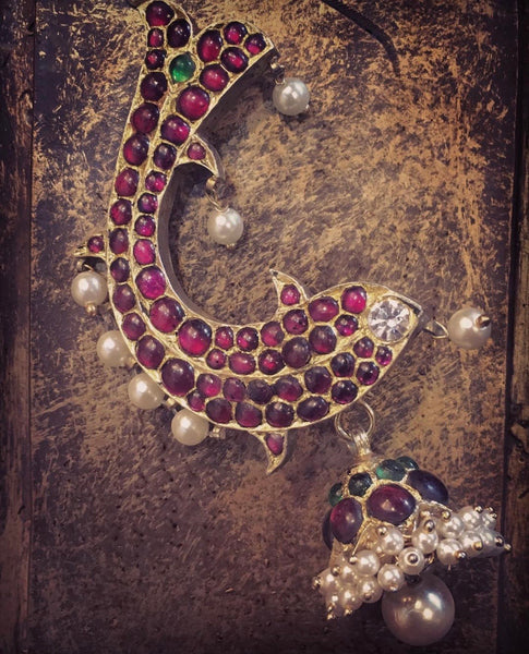 Matsya Raj Earrings [silver jewellery] [temple jewellery] - Aaharya