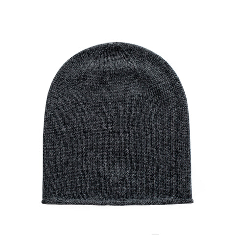johnstons of elgin black cashmere beanie hat