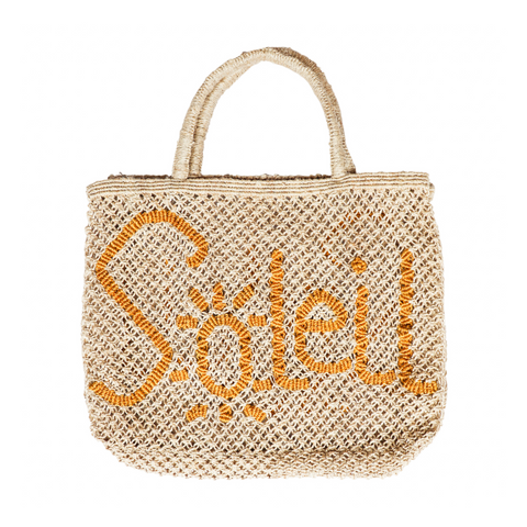 The Jacksons Soleil Jute Tote Bag - Natural with Yellow