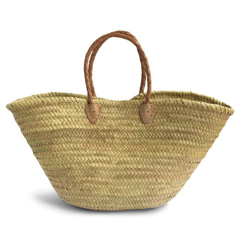 Plait Handle French Style Straw Basket