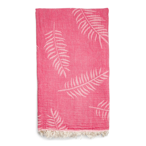 Palm Hammam Towel - Flamingo/Rose Pink