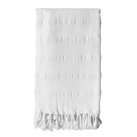Cove Stonewashed Hammam Towel - Chalk