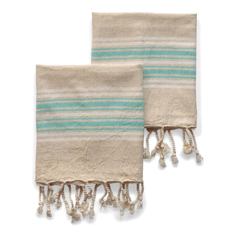 Dune Linen Hand Towels - Ocean - Set of 2 - from Sand and Salt