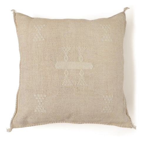 Cactus Silk Cushion Cover - Stone