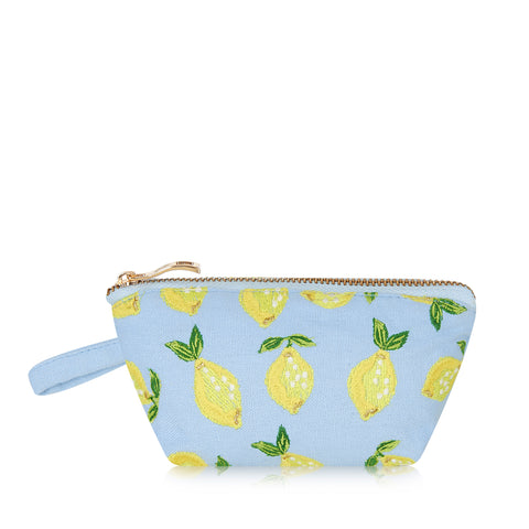 Elizabeth Scarlett Lemon Mini Pouch - Chambray Blue