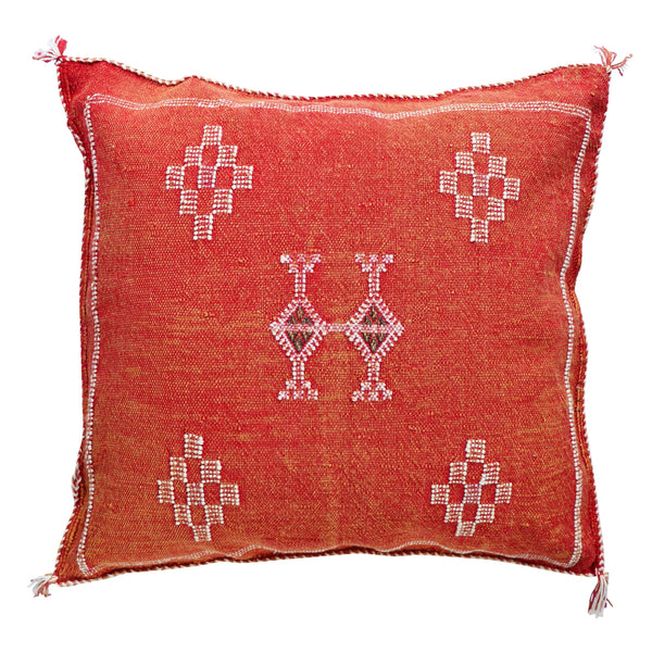 Cactus Silk Cushion Cover - Rust