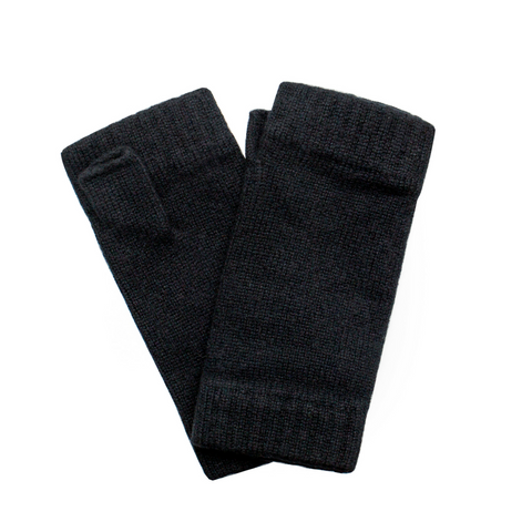 sand and salt Classic Cashmere Wrist Warmers - Black