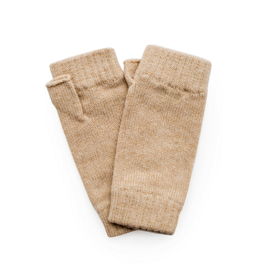 Classic Cashmere Wrist Warmers - Soft Camel