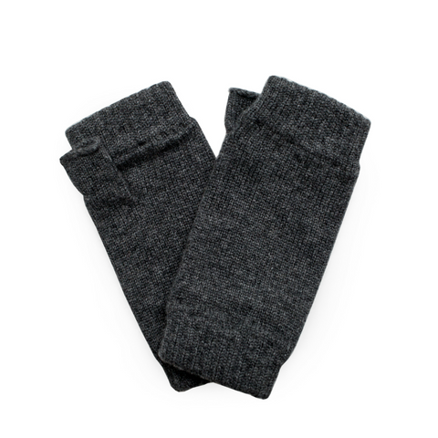 Classic Cashmere Wrist Warmers - Charcoal