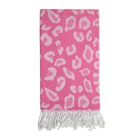 Animal Print Hammam Towel - Pink