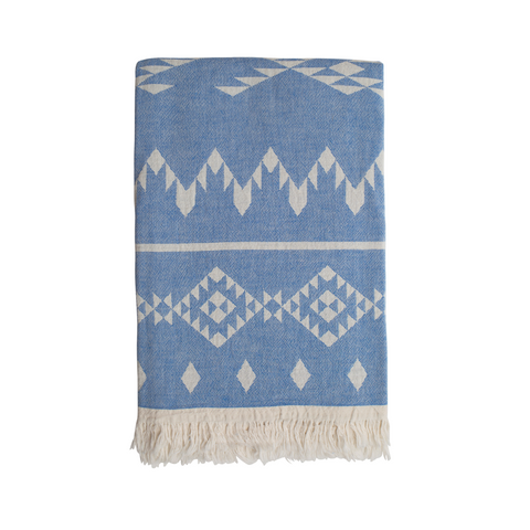 Sand and salt Belize Hammam Towel - Washed Blue
