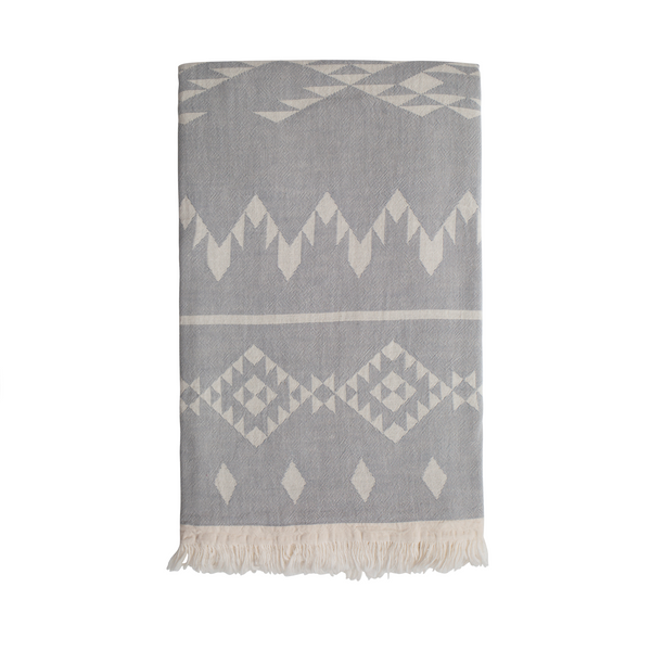 Sand and salt Belize Hammam Towel - Washed Grey