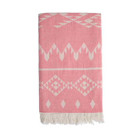 Sand and salt Belize Hammam Towel - Washed Pink