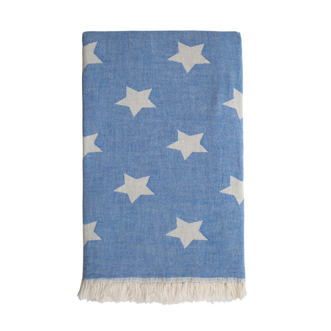 Star Hammam Towel - Washed Blue