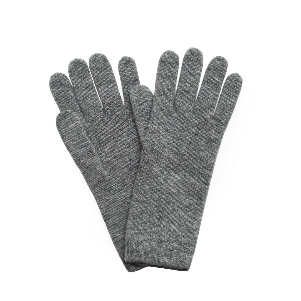 Cashmere Ladies Gloves - Light Grey Marl