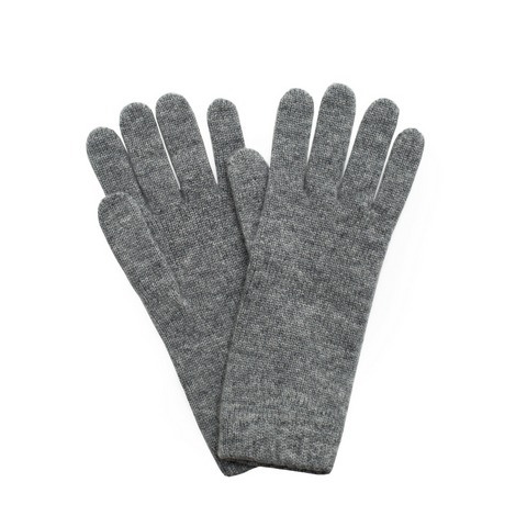 Sand and Salt Cashmere Ladies Gloves - Light Grey Marl