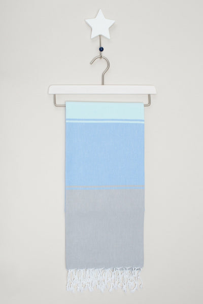 Annecy hammam hamam towel in cornflower and ice blue from sand and salt