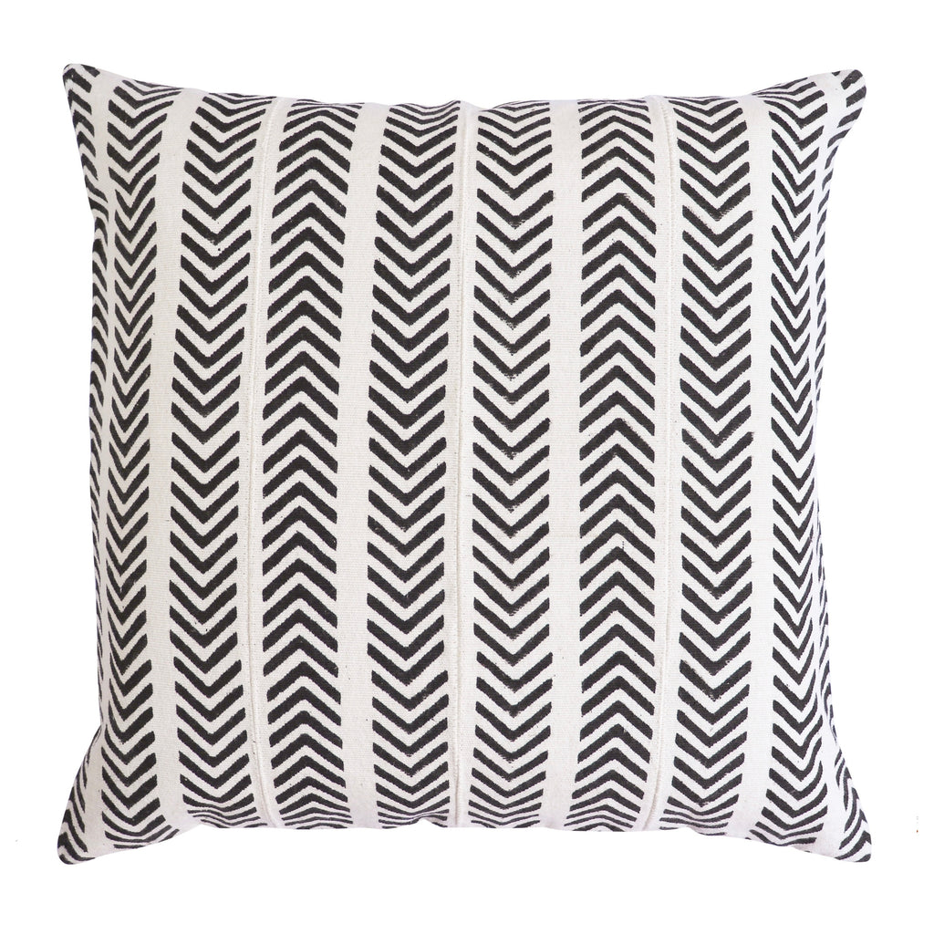 Arrow Textured Cotton Cushion Cover