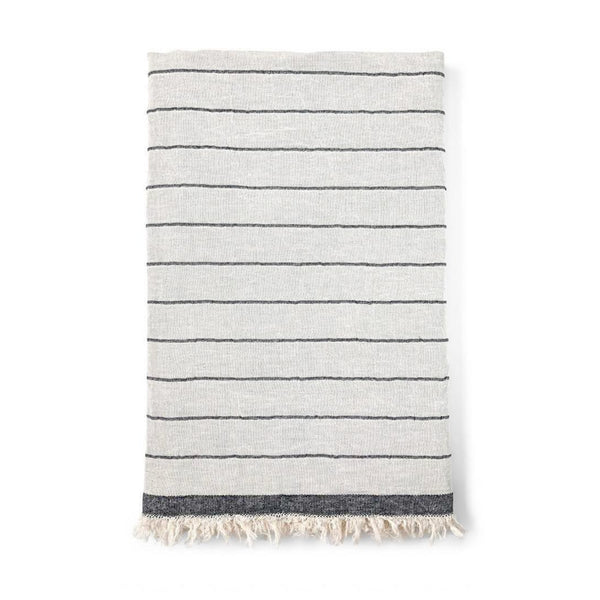 Surf Stripe Hammam Towel - Charcoal