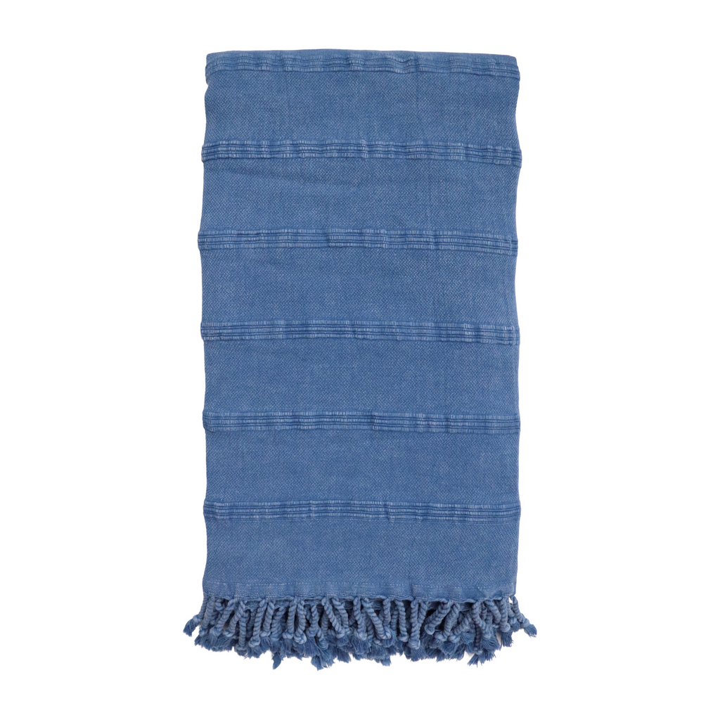 Cove Stonewashed Hammam Towel - Denim