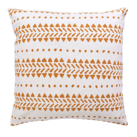 Desert Textured Cotton Cushion Cover - Mustard