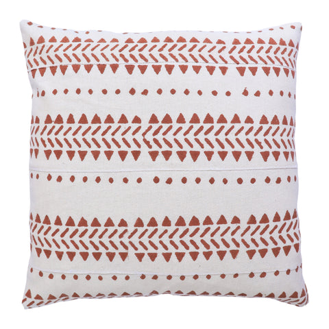 Desert Textured Cotton Cushion Cover - Paprika