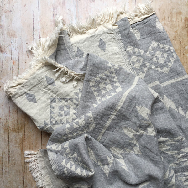 Belize aztec cotton hammam towel in grey from sand and salt