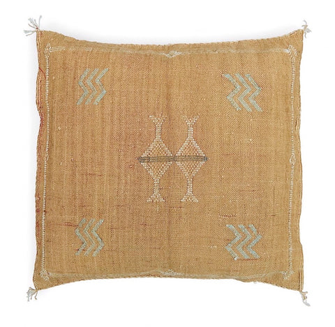 Moroccan cactus silk cushion cover in Caramel