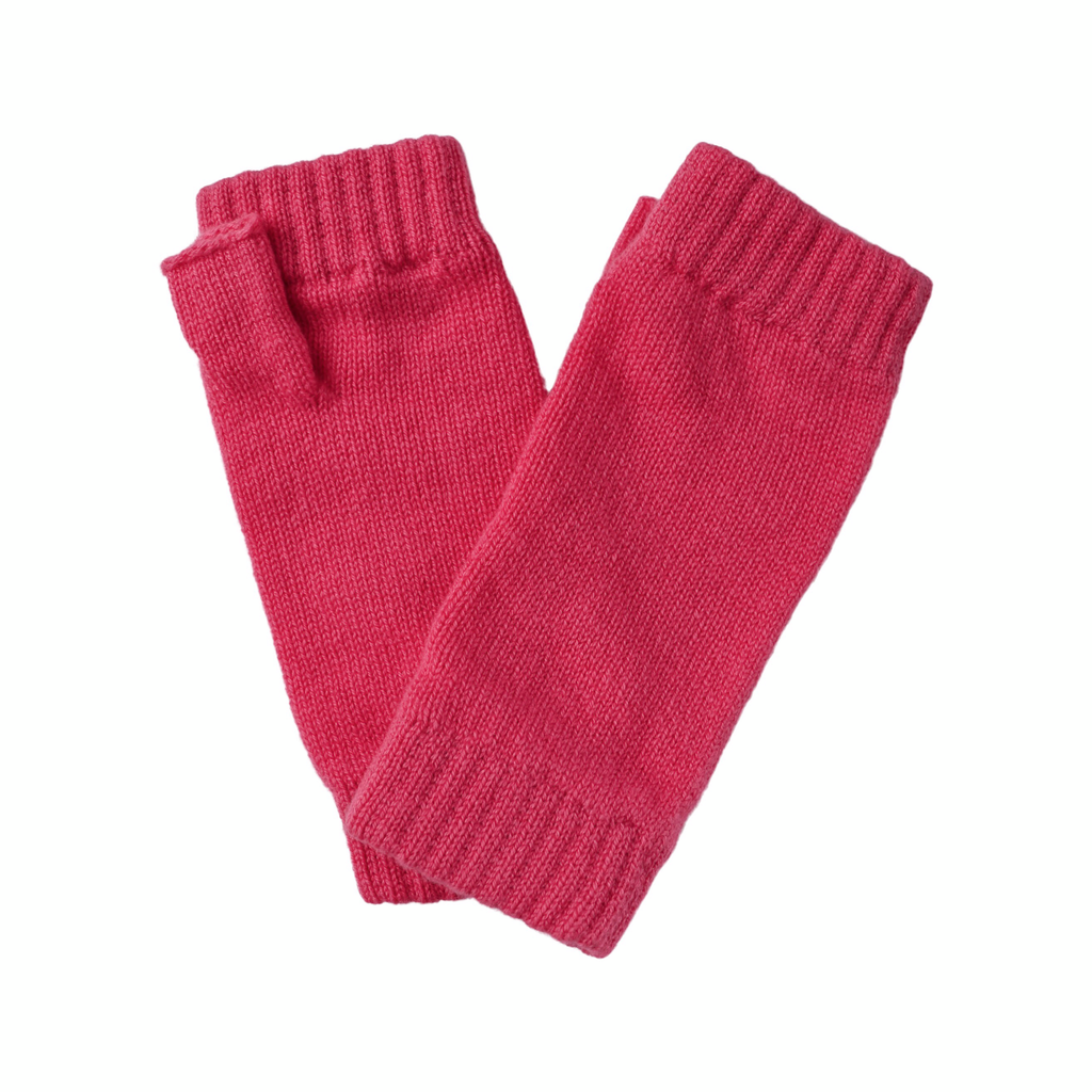 Cashmere Wrist Warmers - Hot Pink