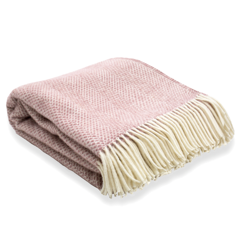 Soft Wool Throw - Blush