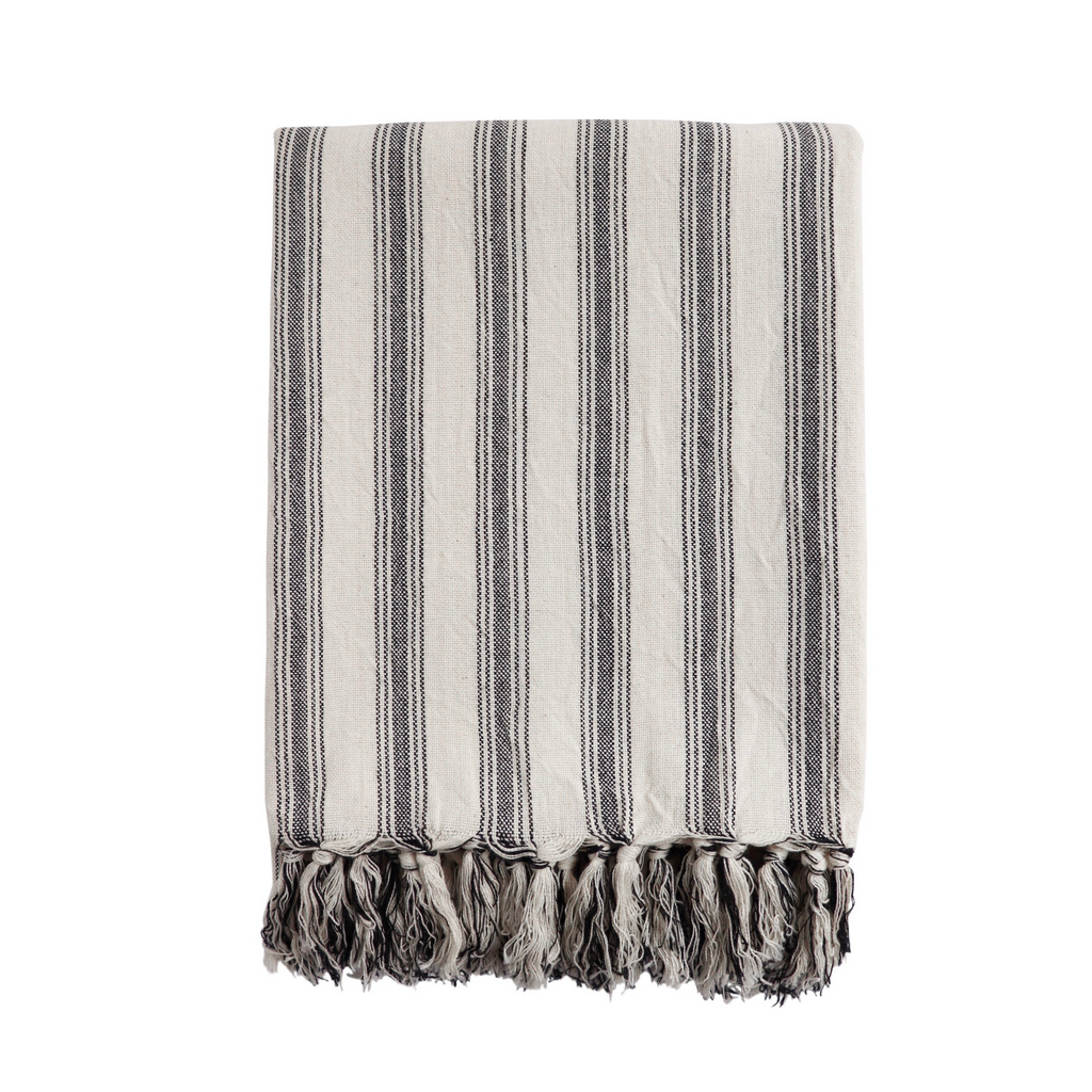 Reef Fringed Stripe Hammam Towel