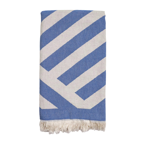 Inca Hammam Towel - Denim Blue