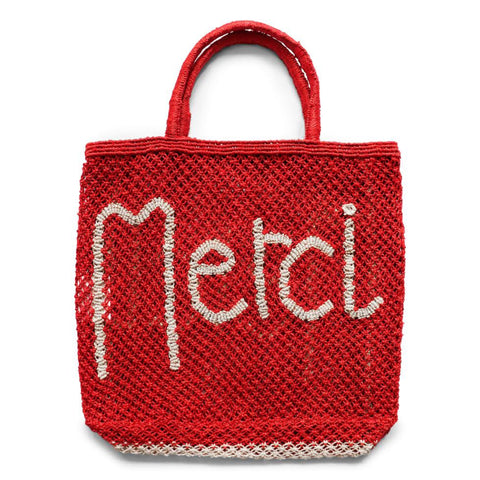 The Jacksons Merci Jute Tote Bag - Large - Spice Red with Natural