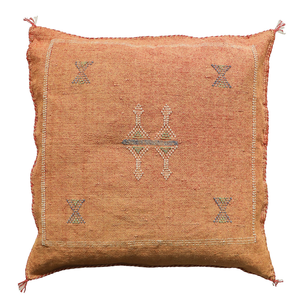 Cactus Silk Cushion Cover - Terracotta