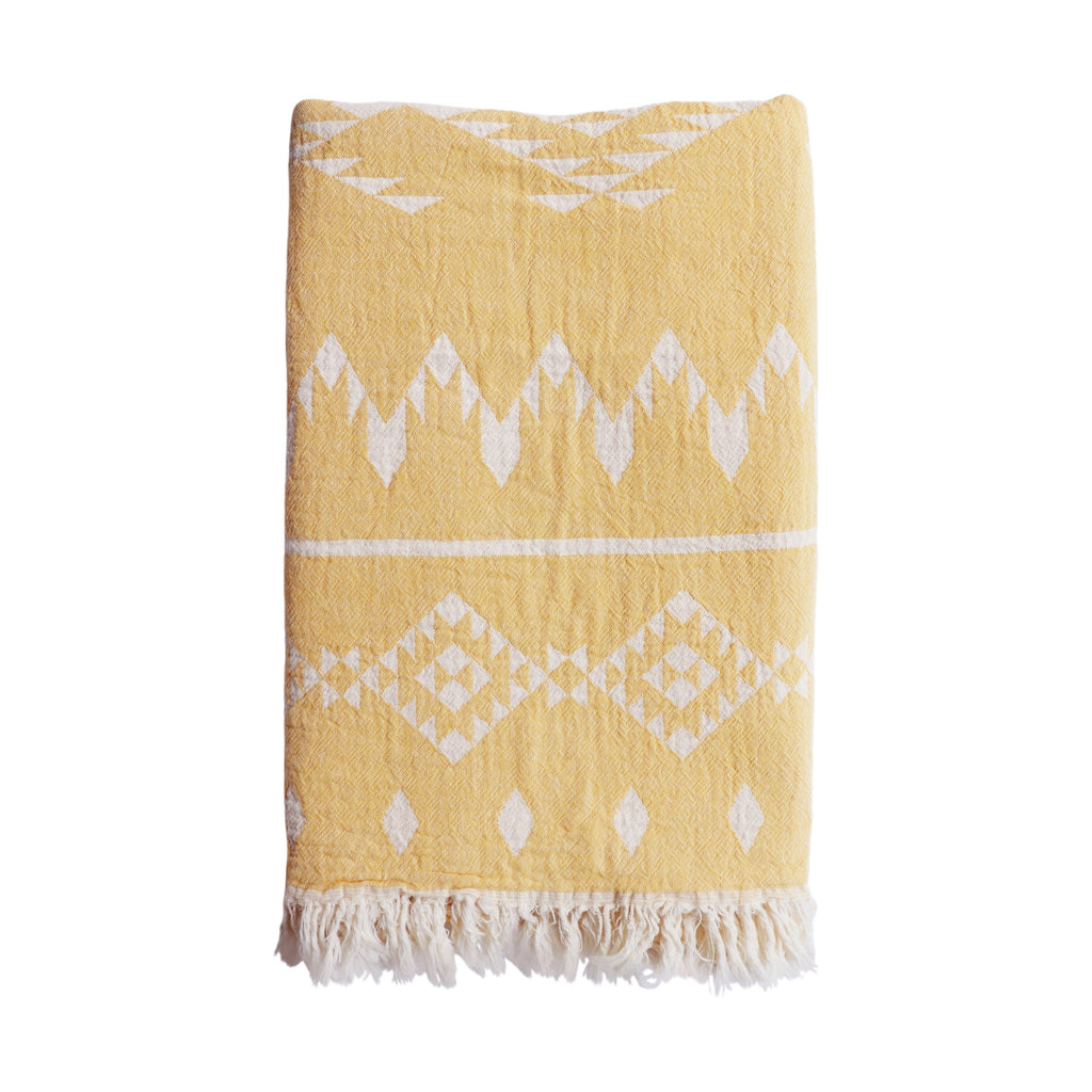 Belize Hammam Towel - Washed Yellow