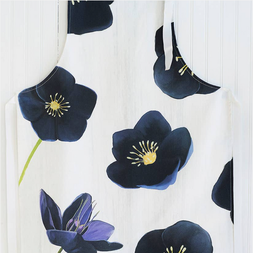 Apron: Black Hellebore on Snow