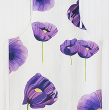 Apron: Purple Poppies on Snow