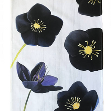 Black Hellebore on Snow Tea Towel