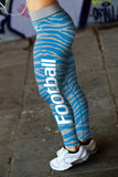 Detroit Football Striped Leggings