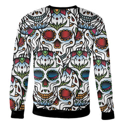 Colorful Sugar Skull Sweatshirt