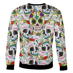 Really Colorful Sugar Skull Sweatshirt